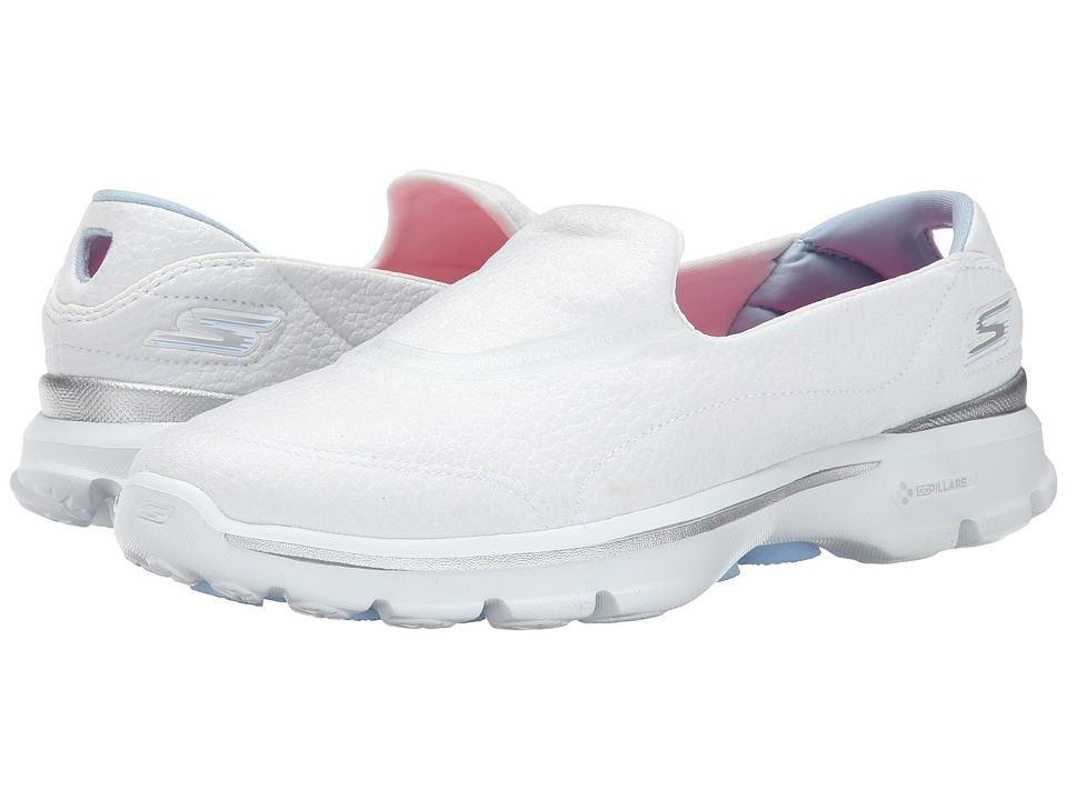 SKECHERS Performance - Go Walk 3 - Revive (White) Women's Walking Shoes