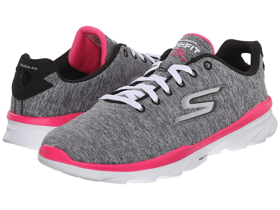 SKECHERS Performance - Go Fit TR (Grey/Pink) Women's Walking Shoes