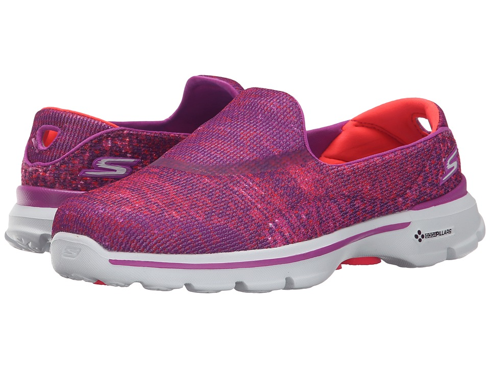 SKECHERS Performance - Go Walk 3 - Glisten (Pink) Women's Walking Shoes