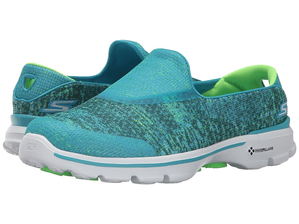 SKECHERS Performance - Go Walk 3 - Glisten (Teal) Women's Walking Shoes