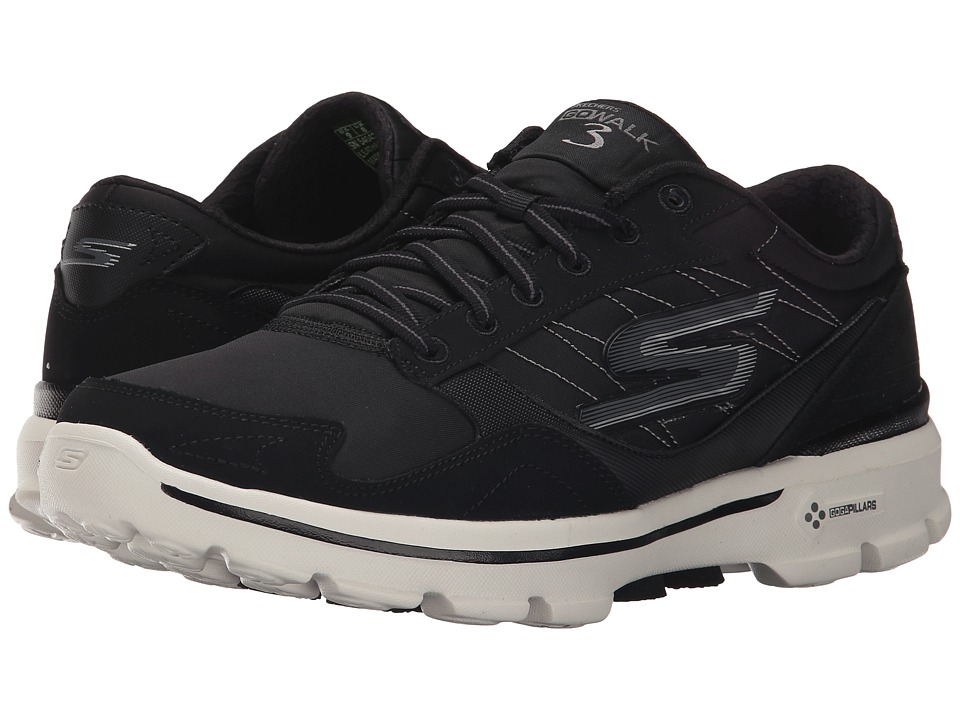 SKECHERS Performance - Go Walk 3 Compete (Black) Men's Walking Shoes