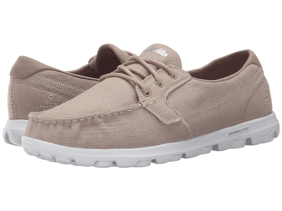 SKECHERS Performance - On The Go - Mist (Taupe) Women's Lace up casual Shoes