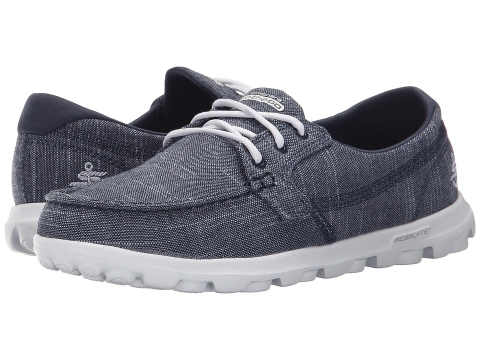 SKECHERS Performance - On The Go - Mist (Navy/White) Women's Lace up casual Shoes
