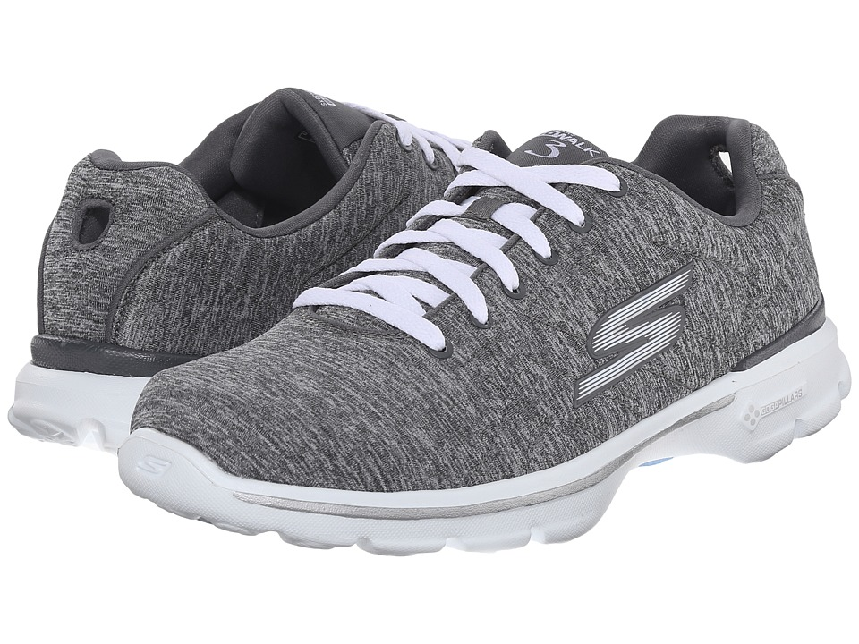 SKECHERS Performance - Go Walk 3 - Integral (Grey) Women's Walking Shoes