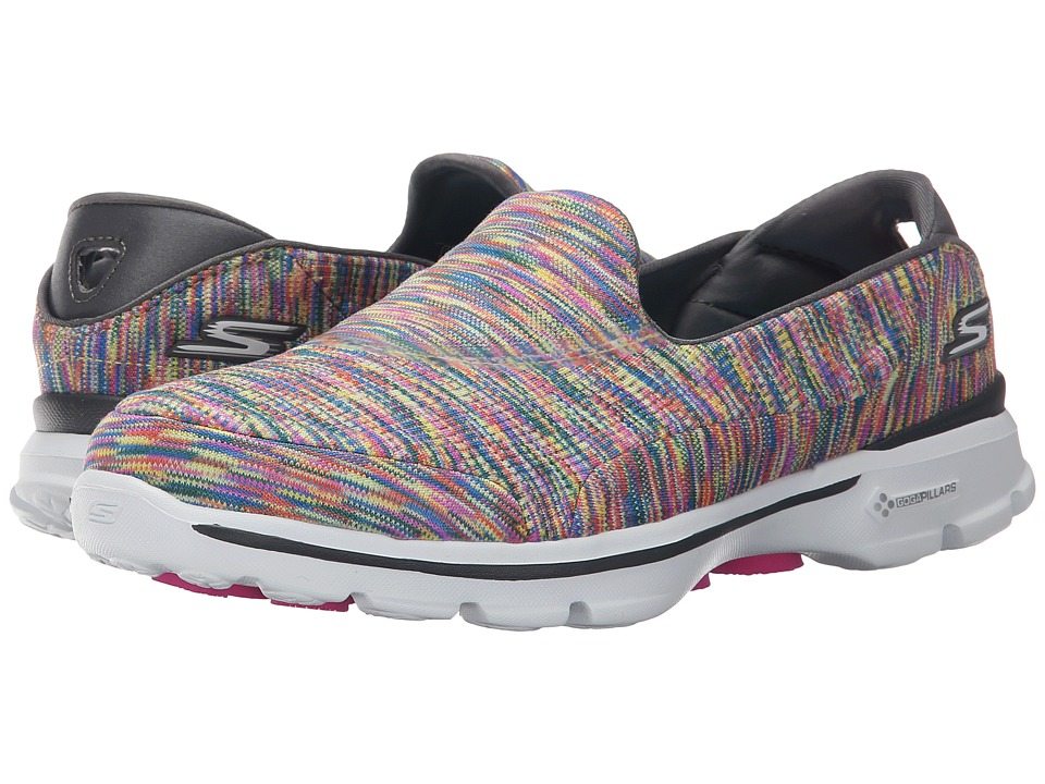 SKECHERS Performance - Go Walk 3 - Crazed (Multi) Women's Walking Shoes