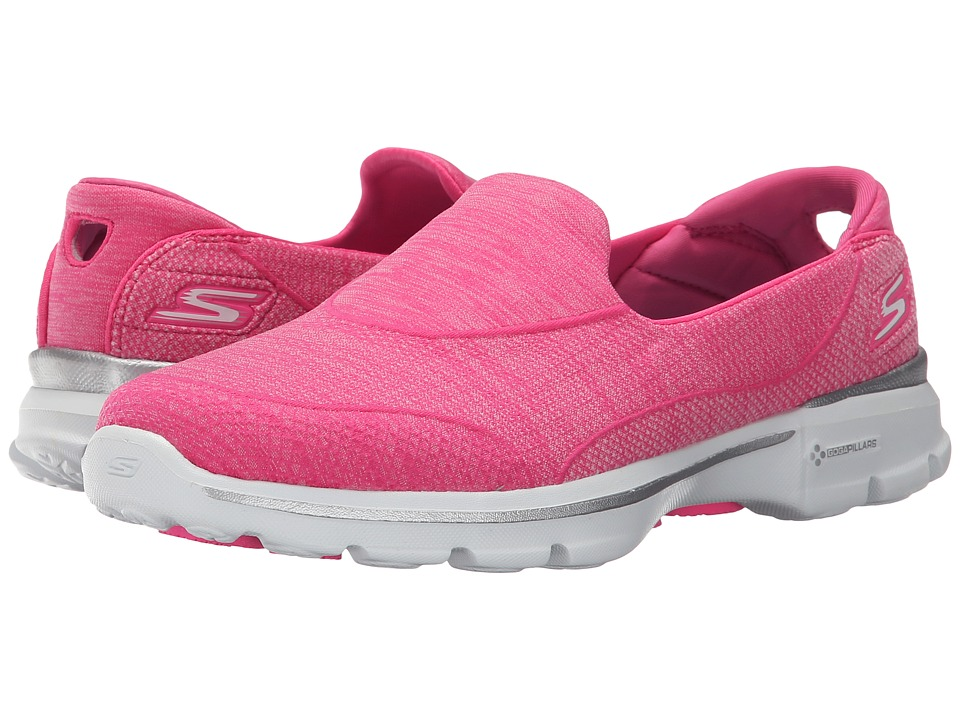 SKECHERS Performance - Go Walk 3 - Super Sock 3 (Hot Pink) Women's Walking Shoes