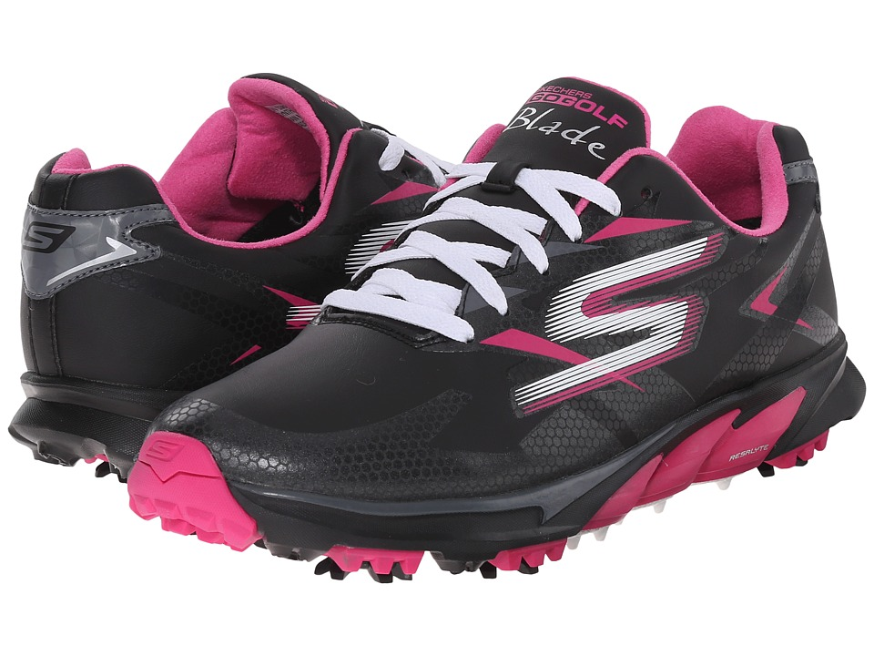 SKECHERS Performance - Go Golf Blade (Black/Pink) Women's Walking Shoes
