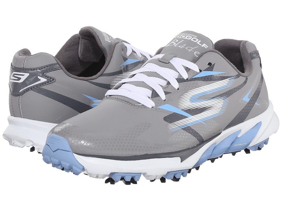 SKECHERS Performance - Go Golf Blade (Grey/Blue) Women's Walking Shoes