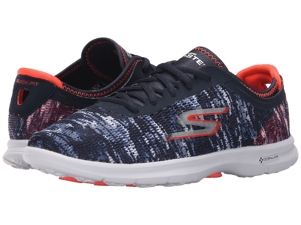 SKECHERS Performance - Go Step - One-Off (Navy/Coral) Women's Walking Shoes