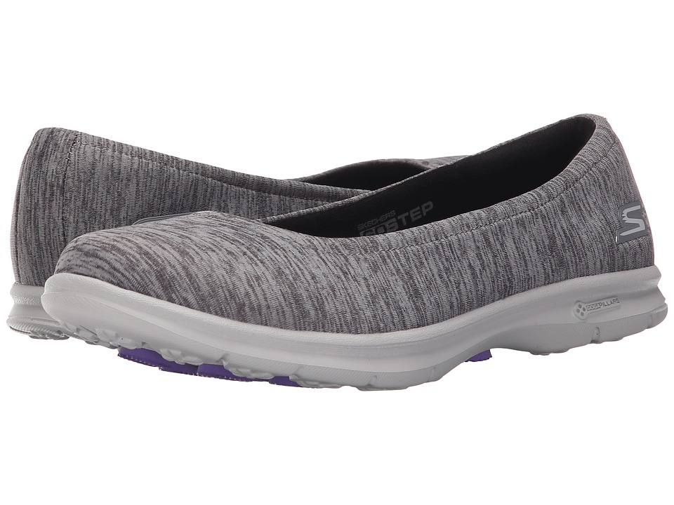 SKECHERS Performance - Go Step - Challenge (Black/Grey) Women's Walking Shoes
