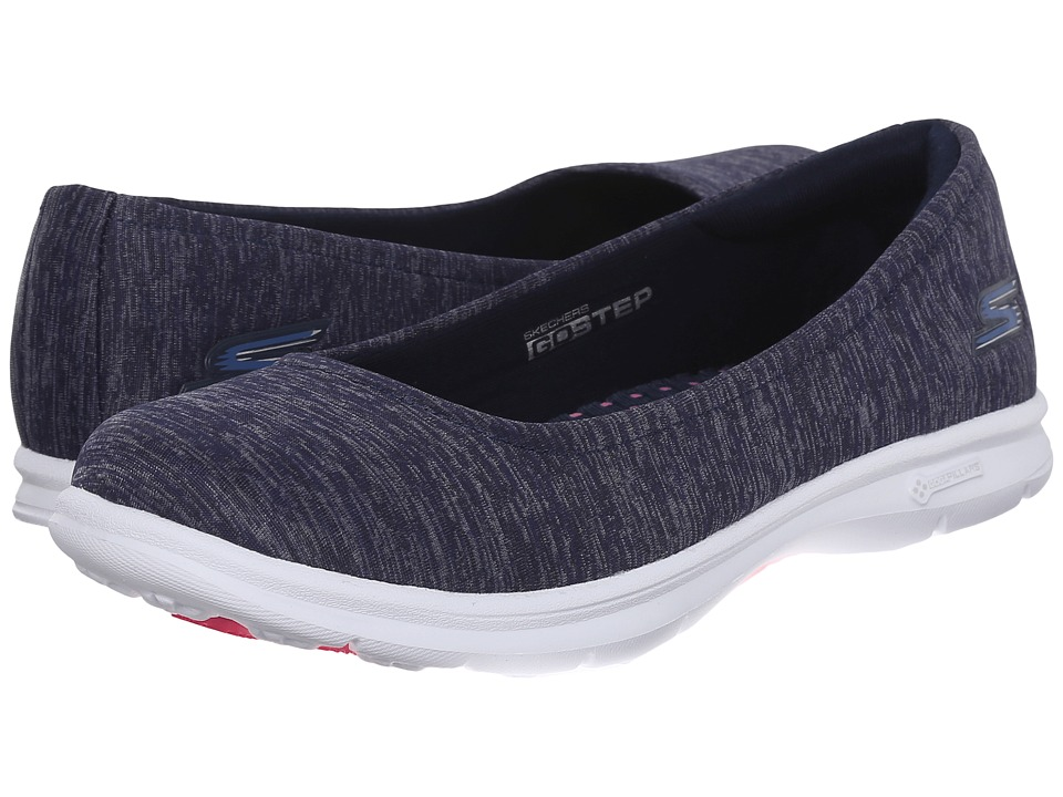 SKECHERS Performance - Go Step - Challenge (Navy/White) Women's Walking Shoes