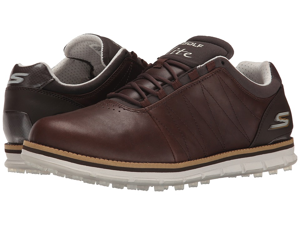 SKECHERS Performance - Go Golf Tour Elite (Brown) Men's Golf Shoes