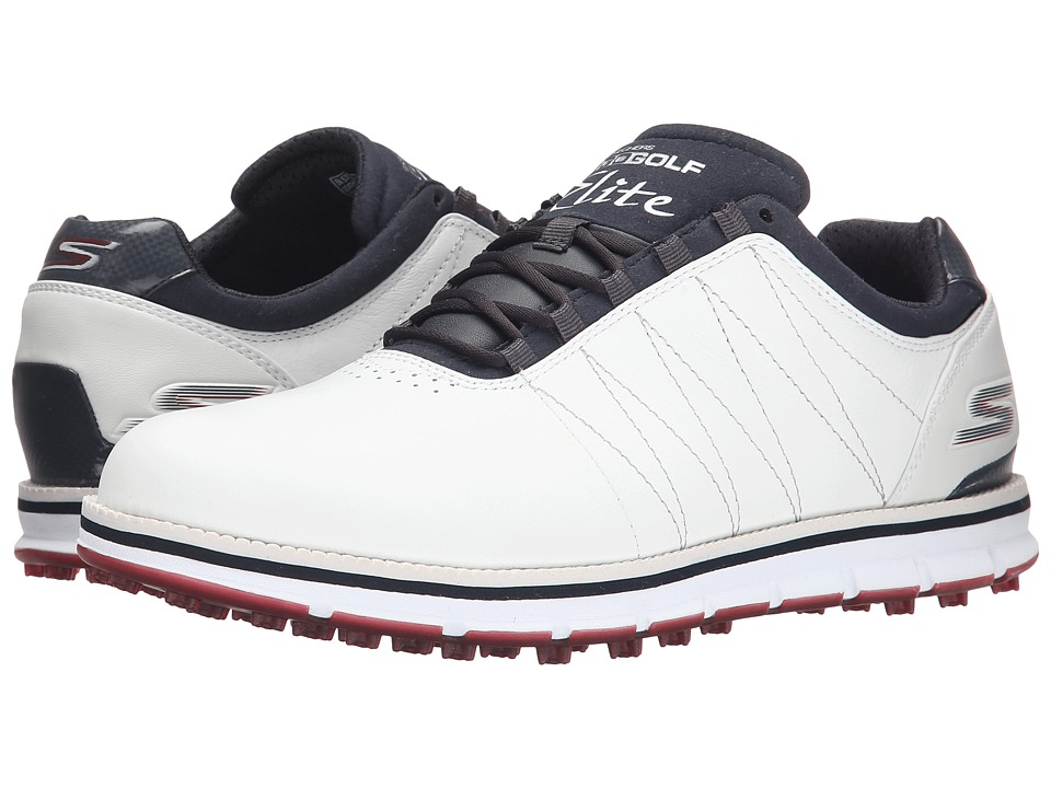 SKECHERS Performance - Go Golf Tour Elite (White/Navy/Red) Men's Golf Shoes