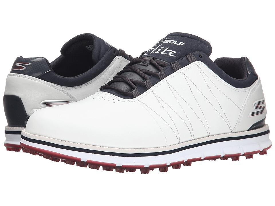 SKECHERS Performance Go Golf Tour Elite (White/Navy/Red) Men