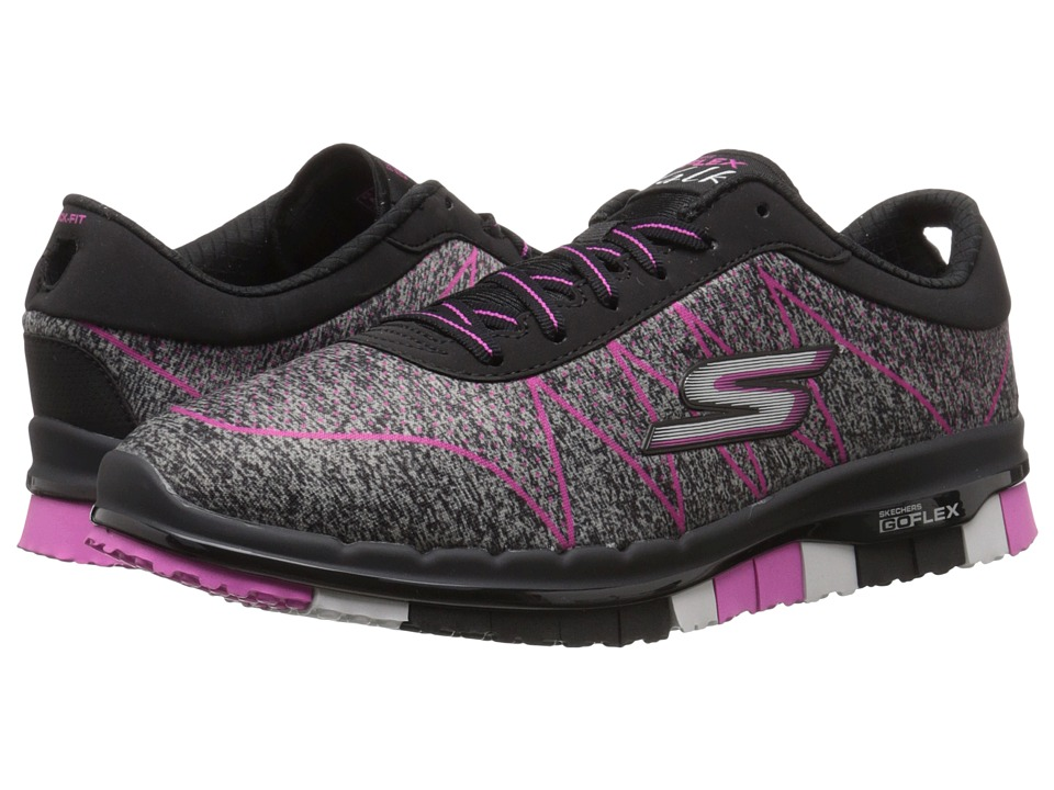 SKECHERS Performance - Go Flex - Ability (Black/Hot Pink) Women's Shoes