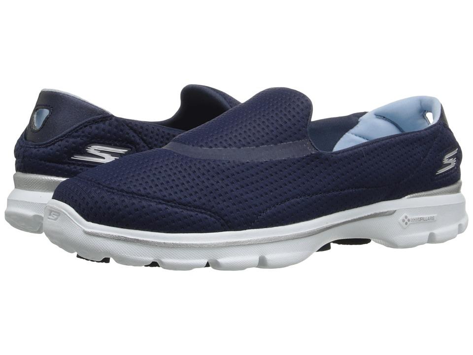SKECHERS Performance - Go Walk 3 - Unfold (Navy/White) Women's Walking Shoes