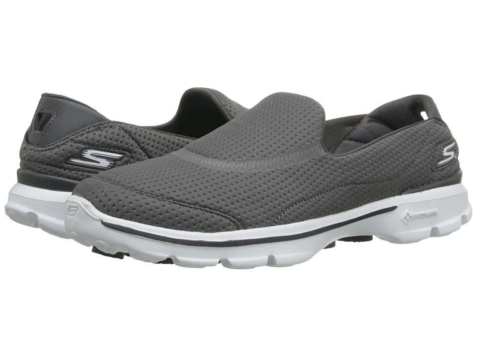 SKECHERS Performance - Go Walk 3 - Unfold (Charcoal) Women's Walking Shoes