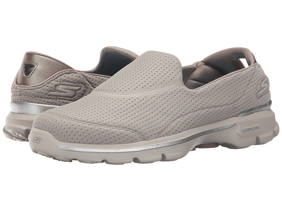 SKECHERS Performance - Go Walk 3 - Unfold (Taupe) Women's Walking Shoes