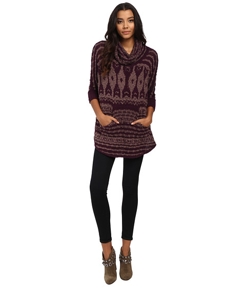 Free People - Rosie Lee Sweater (Maroon Combo) Women's Sweater