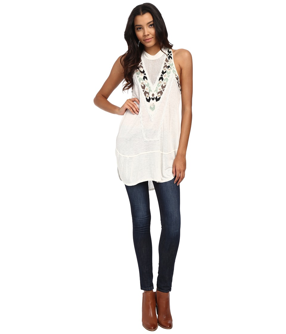 Free People - Adella Mock Neck Party Top (Ivory) Women