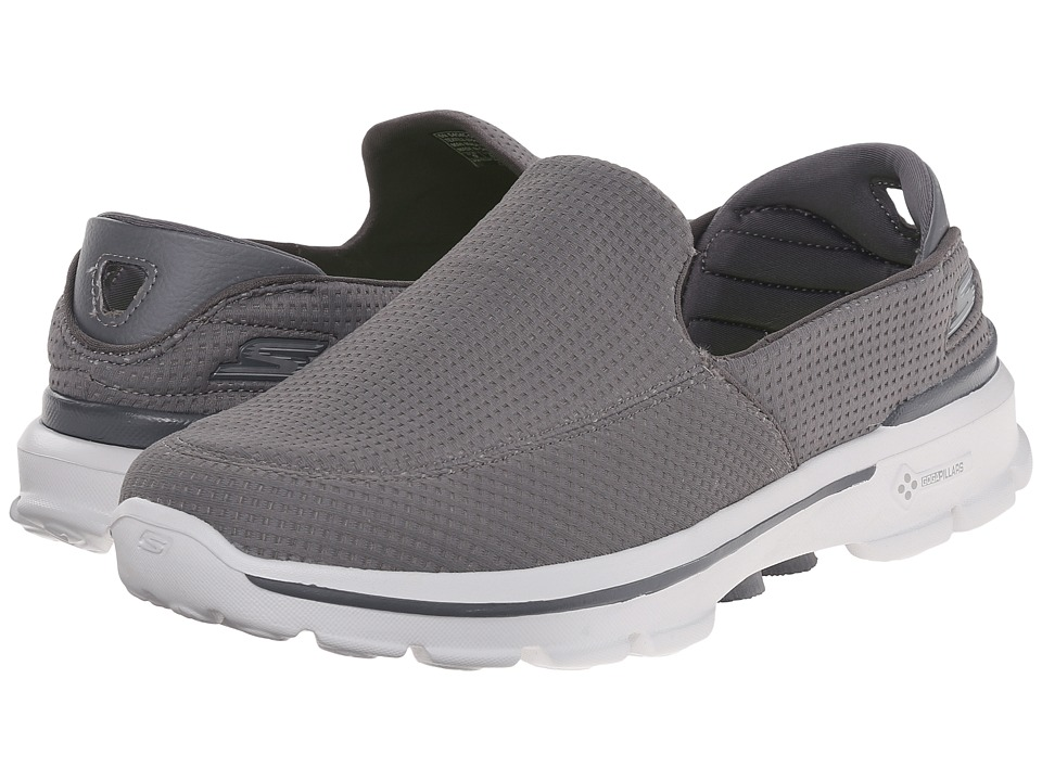 SKECHERS Performance - Go Walk 3 Unfold (Grey) Men's Walking Shoes