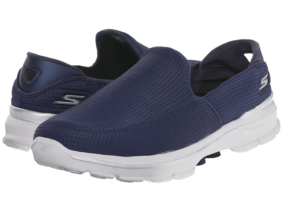 SKECHERS Performance - Go Walk 3 Unfold (Navy) Men's Walking Shoes