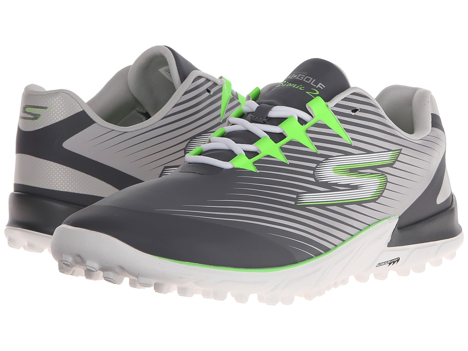 SKECHERS Performance - Go Golf Bionic 2 (Charcoal/Green) Men's Golf Shoes