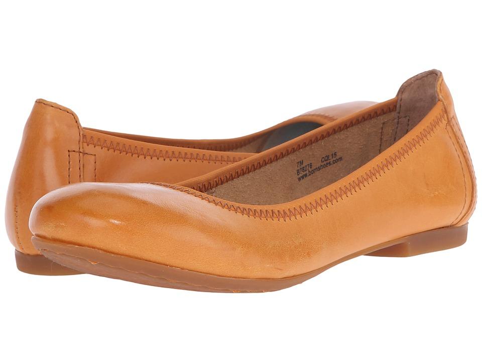 Born - Julianne (Mango Full Grain Leather) Women's Flat Shoes