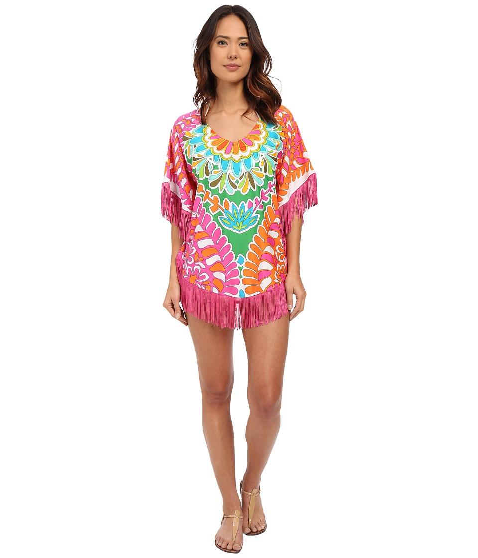 Trina Turk - Tamarindo Fringe Poncho Cover-Up (Multi) Women's Swimwear