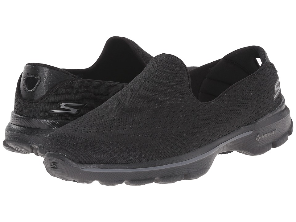SKECHERS Performance - Go Walk 3 - Dominate (Black) Women's Walking Shoes
