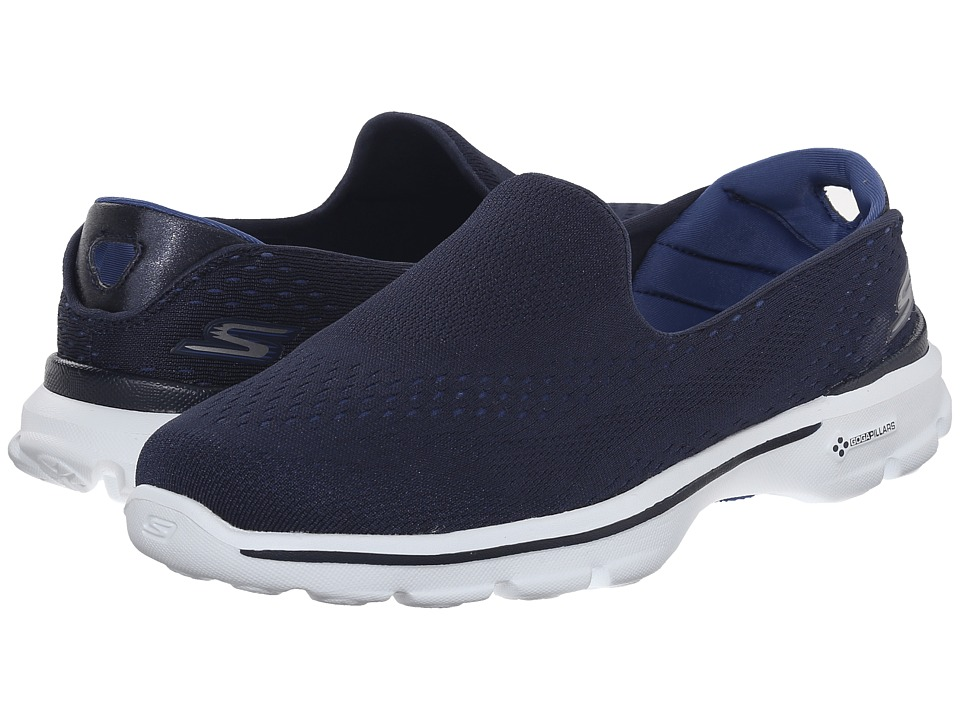 SKECHERS Performance - Go Walk 3 - Dominate (Navy/Blue) Women's Walking Shoes