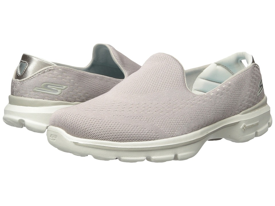 SKECHERS Performance - Go Walk 3 - Dominate (Natural) Women's Walking Shoes