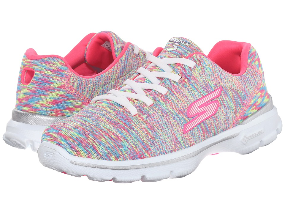 SKECHERS Performance - Go Walk 3 (Multi) Women's Flat Shoes