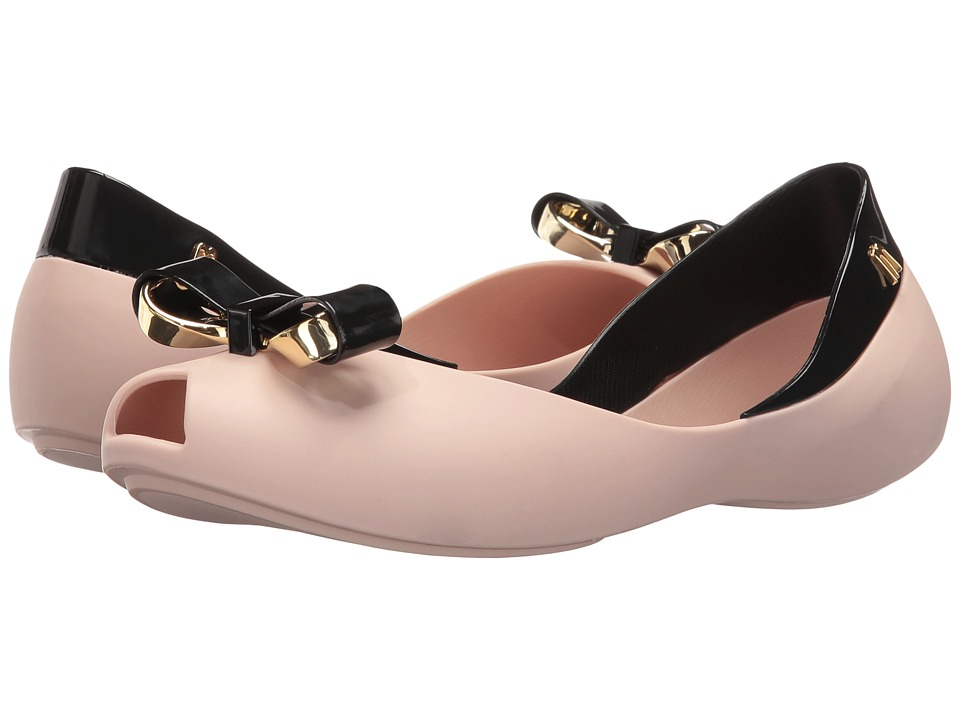 Melissa Shoes - Queen IV (Pink Black) Women's Dress Sandals