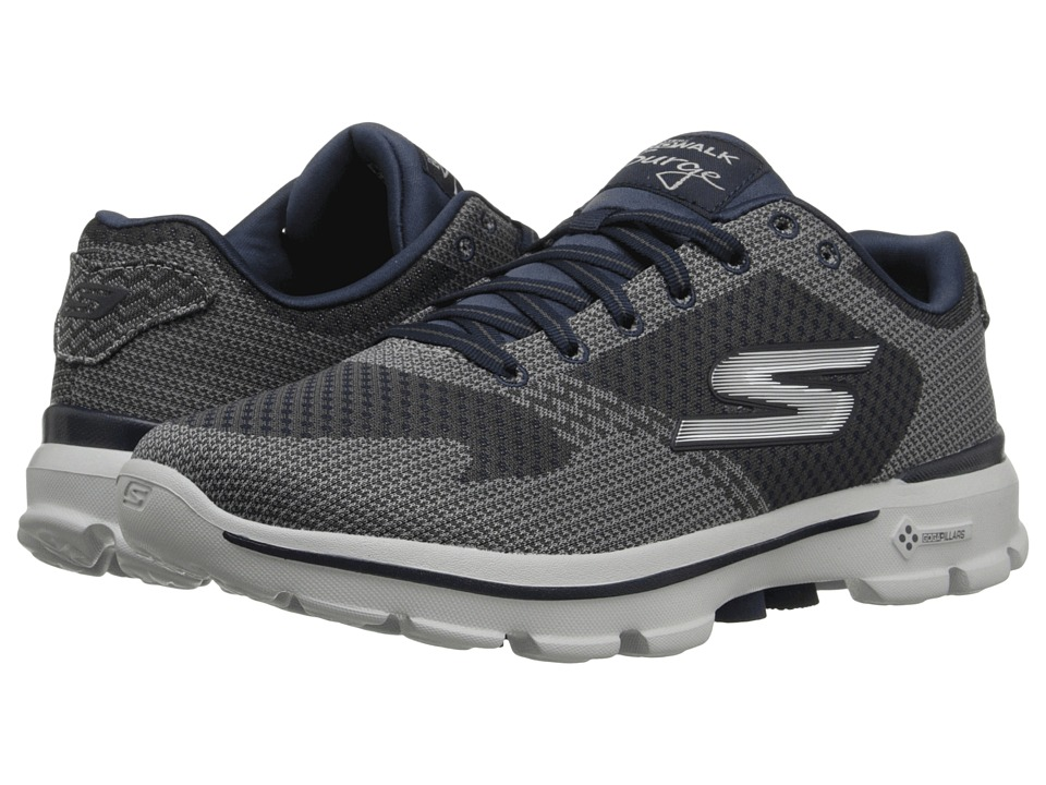 SKECHERS Performance - Go Walk 3 Solar (Charcoal/Navy) Men's Shoes