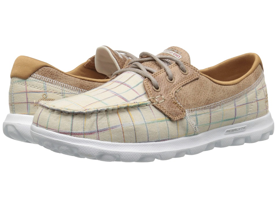 SKECHERS Performance - On The Go - Unwind (Natural) Women's Walking Shoes