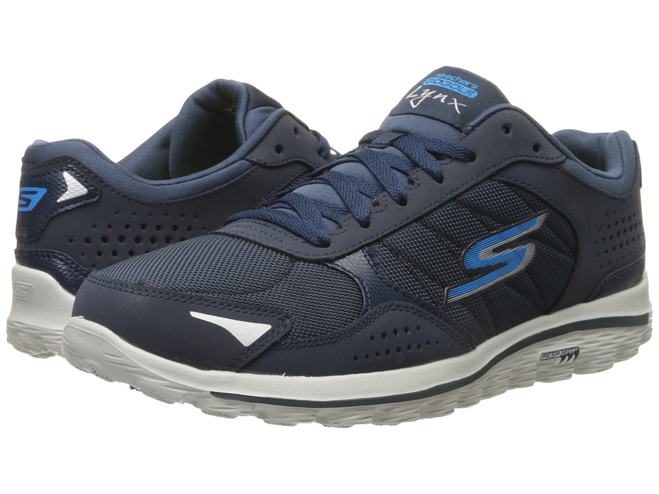 SKECHERS Performance - Go Walk 2 Lynx Ballistic (Navy/Grey) Men's Walking Shoes