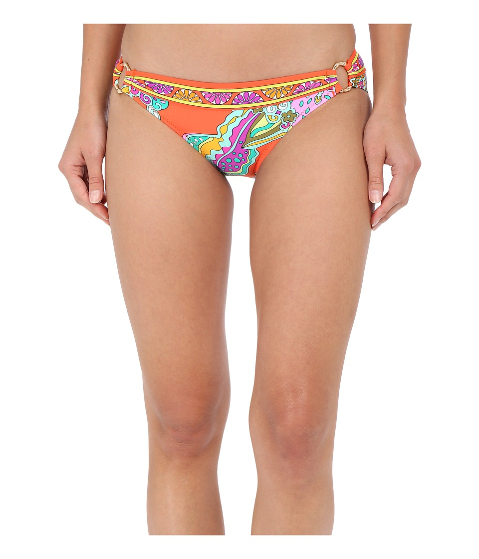 Trina Turk Sea Garden Ring Side Hipster Bottoms (Tangerine) Women