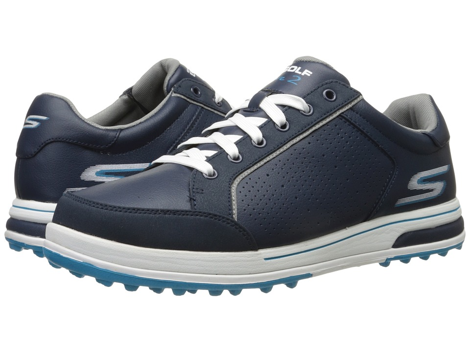 SKECHERS Performance - Go Drive 2 (Navy/White) Men's Shoes
