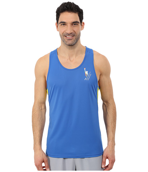 ASICS - Marathon Singlet (New Blue/Electric Lime) Men