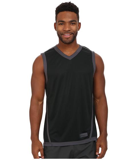 ASICS - Training Reversible Sleeve Top (Steel/Black) Men's Short Sleeve Pullover