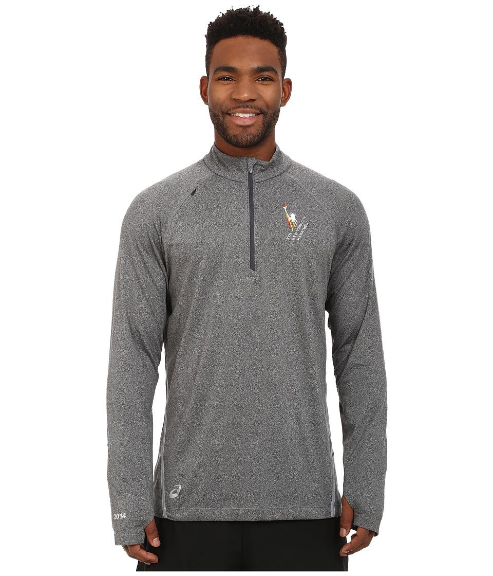ASICS - NYC Marathon Thermopolis LT 1/2 Zip (Heather Iron) Men's Clothing