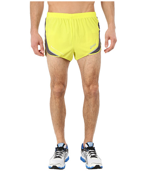 ASICS - Marathon Split Shorts (Electric Lime/Steel) Men's Shorts