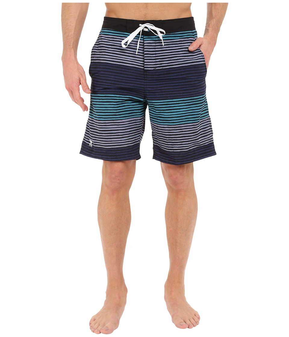 TYR - Apollo Jetty Stripe Apollo Swim Shorts (Green/Grey/Navy) Men's Swimwear