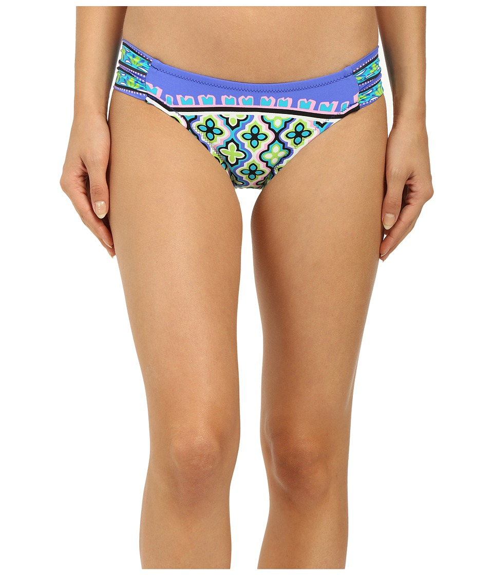Trina Turk Shangri La Shirred Side Hipster (Cobalt) Women