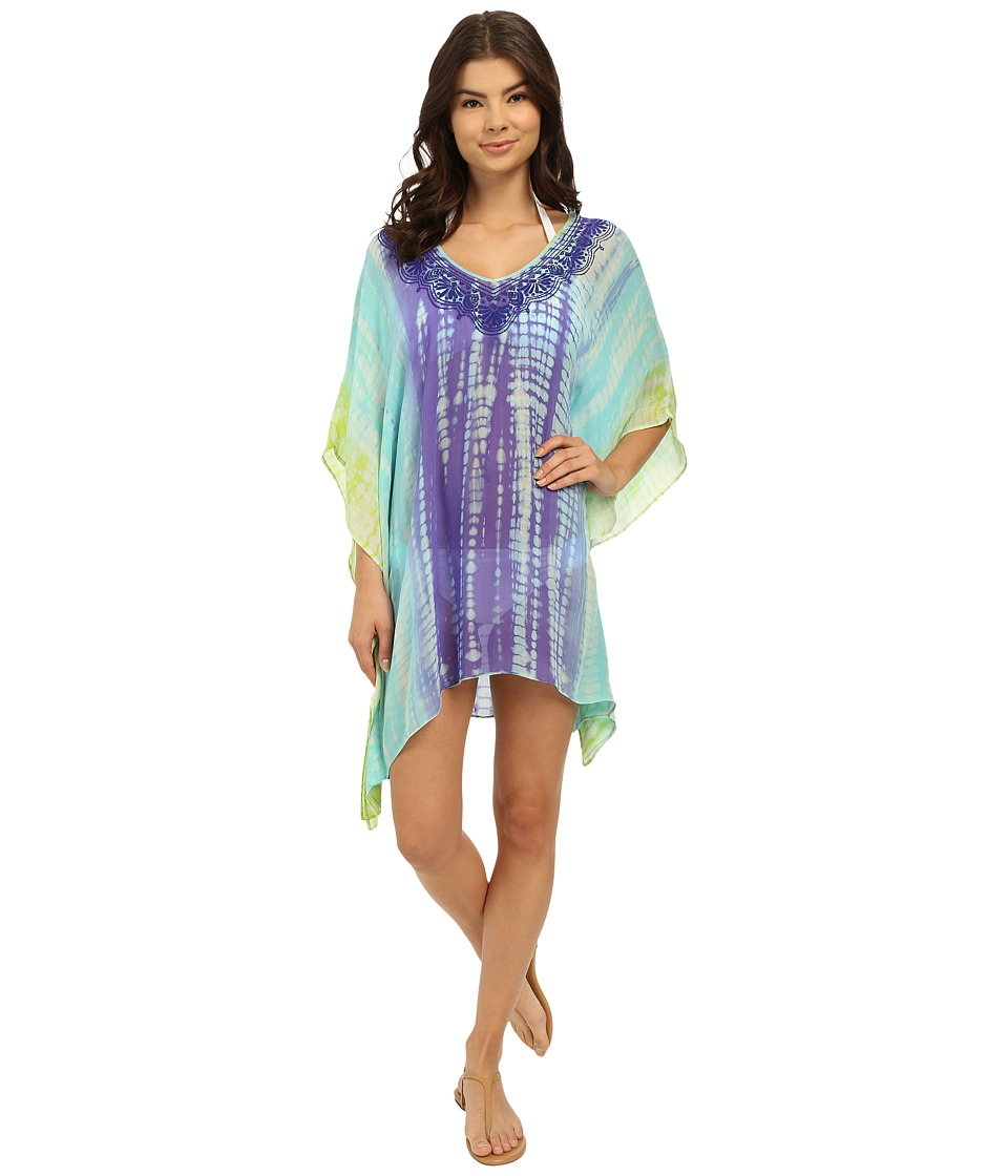 Trina Turk - Nomad Tie-Dye Tunic Cover-Up (Turquoise) Women's Swimwear