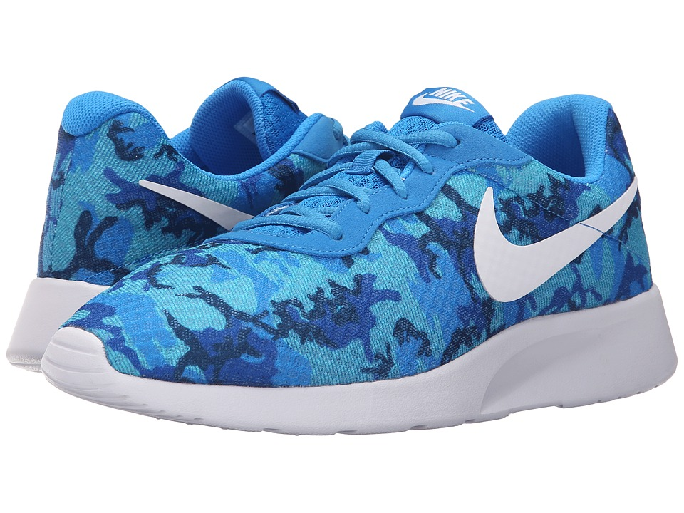 Nike - Tanjun Print (Photo Blue/White/Game Royal/Gamma Blue/Midnight Navy) Men's Running Shoes