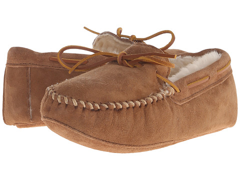 Minnetonka - Sheepskin Softsole Moccasin (Golden Tan) Men's Slippers