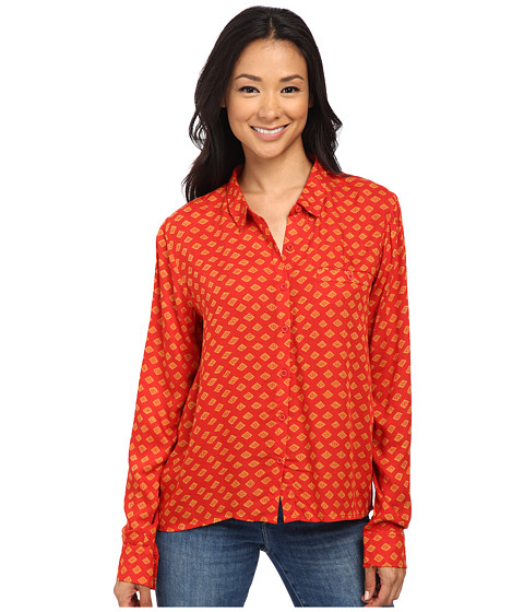 Volcom - Counting Stars Shirt (Blood Red) Women's Clothing