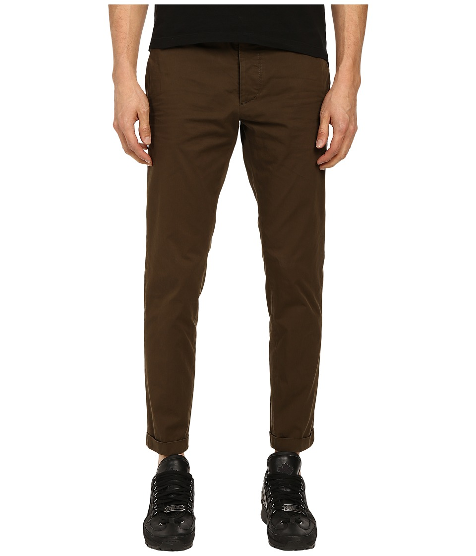 DSQUARED2 - Tokyo Light Cotton Pants (Mud) Men's Casual Pants